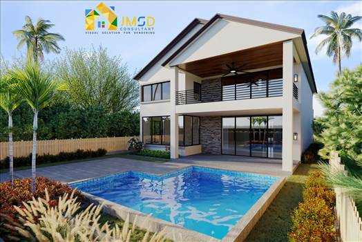 3D Home Exterior Rendering Services by JMSDCONSULTANT