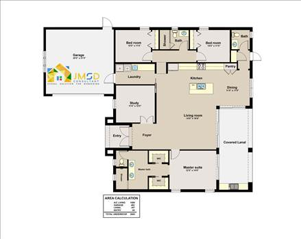 Color Floor Plan Rendering for Home in Naples Florida by JMSDCONSULTANT