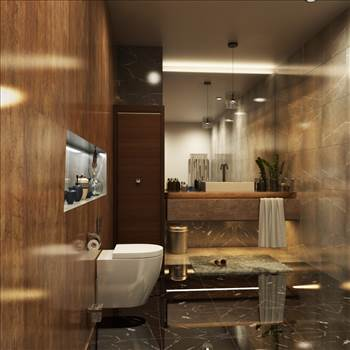 Bathroom 3D Rendering Services Project Los Angeles, California by JMSDCONSULTANT