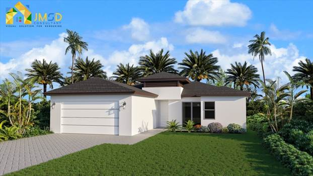 3D Exterior Design of House Naples Florida by JMSDCONSULTANT