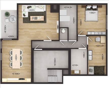 2D Floor Plan Rendering with Photoshop by JMSDCONSULTANT