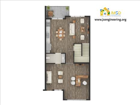 Floor Plan Rendering Services by JMSDCONSULTANT