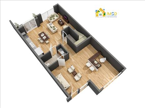 Residential 3D Floor Plan Design and Visualization Services United States by JMSDCONSULTANT