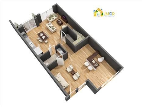 Residential 3D Floor Plan Design and Visualization Services United States - Residential 3D Floor Plan Design and Visualization Services by JMSD Consultant - 3D Rendering Studio.