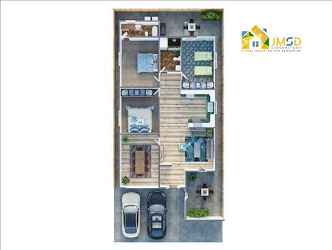 Home 3D Floor Plan Rendering Asheville NC by JMSDCONSULTANT