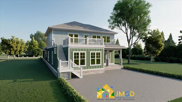 3D Home Rendering Myrtle Beach South Carolina by JMSDCONSULTANT