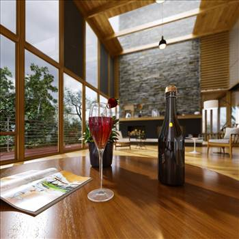 Lake House 3D Rendering Services by JMSDCONSULTANT