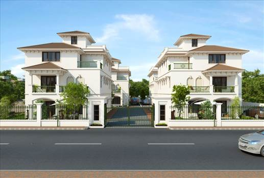 Architectural 3D Rendering Services in India for Front View of Villa by JMSDCONSULTANT