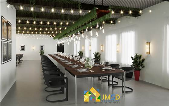 3D Rendering for Event Hall Space in Warren Michigan by JMSDCONSULTANT