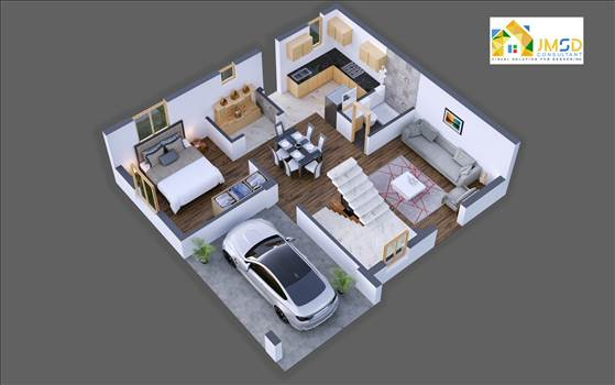 3D Floor Plan Visualization Services by JMSDCONSULTANT