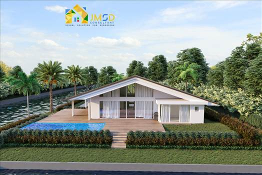 Single Family Home Elevation Rendering  by JMSDCONSULTANT