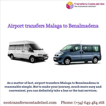 Airport transfers Malaga to Benalmadena - As a matter of fact, airport transfers Malaga to Benalmadena is reasonable simple. But to make your journey, much more easy and convenient, you can definitely take a bus or the taxi services. For more details, visit: https://ecotransferscostadelsol.com/
