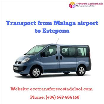 Transport from Malaga airport to Estepona by ecotransferscostadelsol