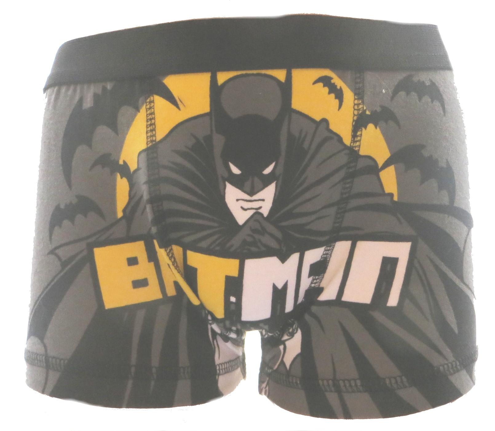 Batman Grey Boxer Trunks BBOX08 1.JPG  by Thingimijigs