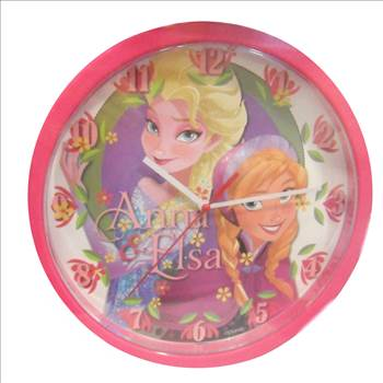 Disney Frozen Anna & Elsa Clock.JPG by Thingimijigs