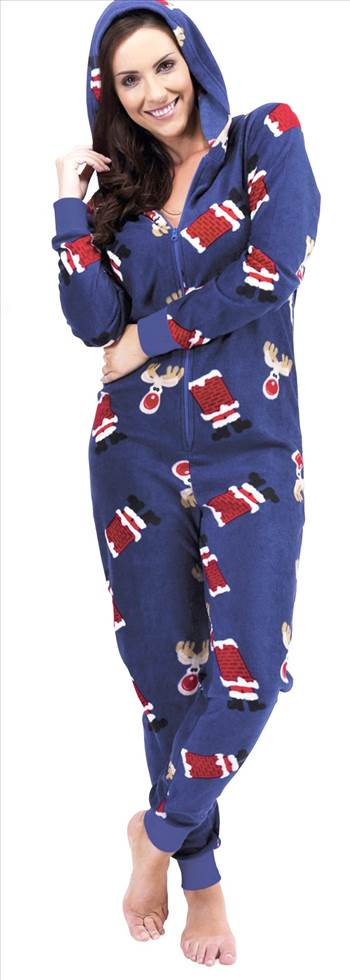 Ladies Christmas Onesie LN650 Blue jpg.jpg by Thingimijigs