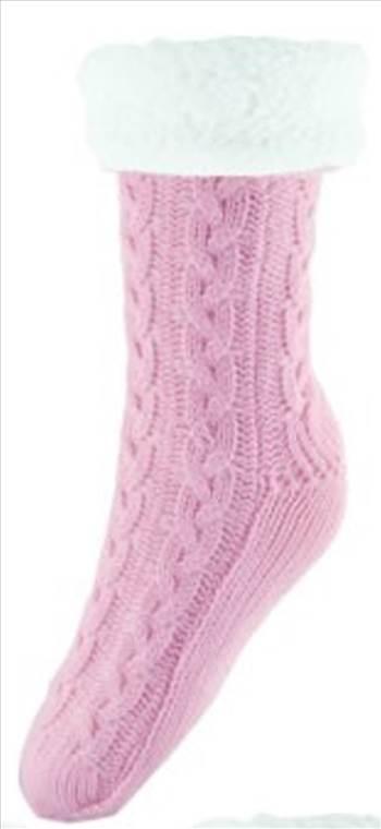 Chunky Knit Socks Pink.jpg by Thingimijigs