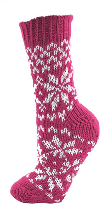 Ladies Knitted Socks SK248A Pink.jpg by Thingimijigs