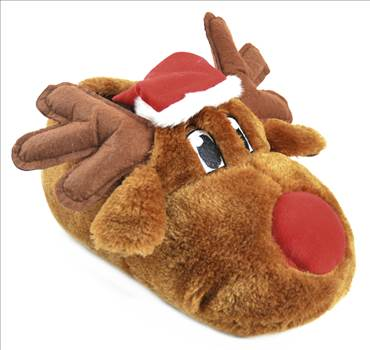 Brown reindeer Slippers FT1029.jpg by Thingimijigs