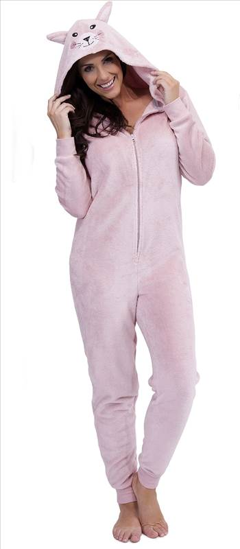 Ladies Animal Onesie LN635 Pink.jpg by Thingimijigs