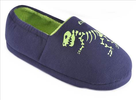 Blue Dinosaur Slippers.jpg by Thingimijigs