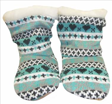 Ladies KNitted Boots Green 1.JPG by Thingimijigs