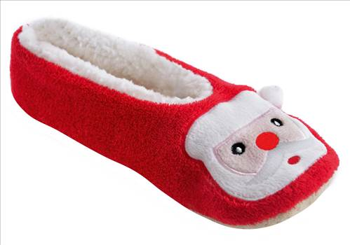 Ladies Red Christmas Slippers FT1061.jpg by Thingimijigs