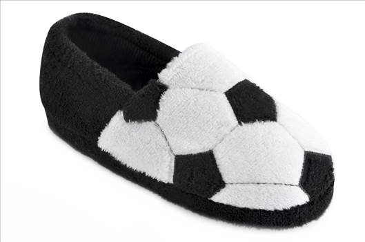 White Football Slippers FT1235.jpg by Thingimijigs