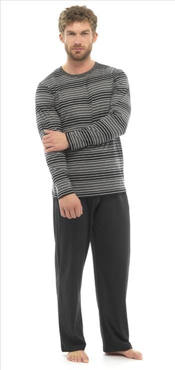 Mens Jersey Pyjamas  Black HT339B_3.jpg by Thingimijigs