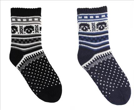Boys Patterned KNitted Slipper Sock SK307.jpg by Thingimijigs