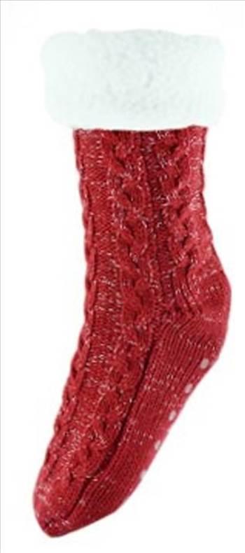 Chunky Knit Socks Red.jpg by Thingimijigs