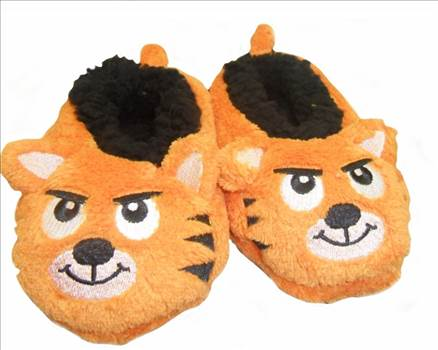 Boys 3d Slippers Orange.jpg by Thingimijigs