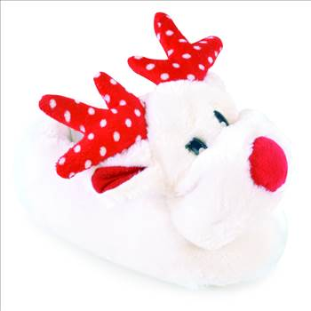 White Reindeer Slippers FT1014.jpg by Thingimijigs
