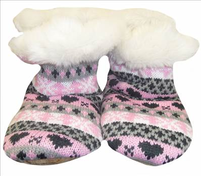 Ladies KNitted Boots Pink a.JPG by Thingimijigs