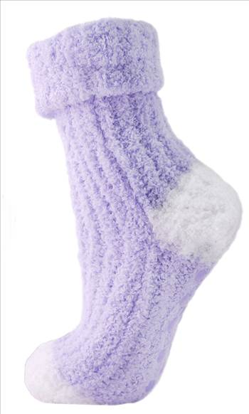 Ladies Fluffy Non Skid SK185 Lilac.jpg by Thingimijigs