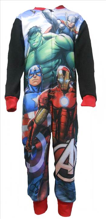 Marvel Avengers Boys Fleece Onesie..JPG by Thingimijigs