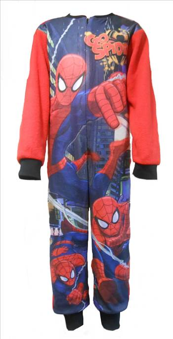 Spiderman Boys Fleece Onesie..JPG by Thingimijigs