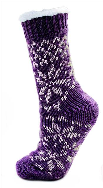 Ladies Knitted Socks SK248A Purple.jpg by Thingimijigs