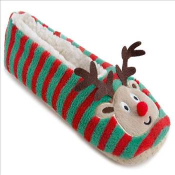 Ladies Stripey Christmas Slippers FT1061.jpg by Thingimijigs