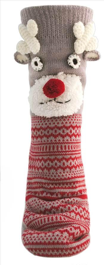 Ladies Reindeer Socks SK464.jpg by Thingimijigs