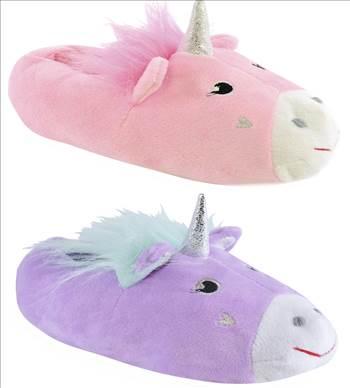 Unicorn slippers.jpg by Thingimijigs