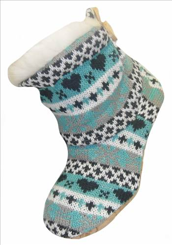 Ladies KNitted Boots Green.JPG by Thingimijigs