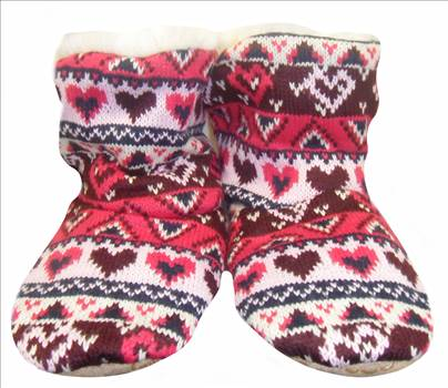 Ladies KNitted Boots Bright Pink 1.JPG by Thingimijigs