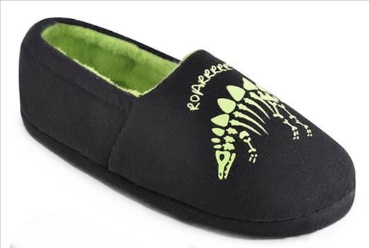 Black Dinosaur Slippers.jpg by Thingimijigs