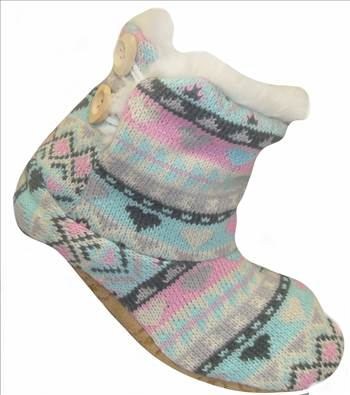 Ladies KNitted Boots Pastel.JPG by Thingimijigs