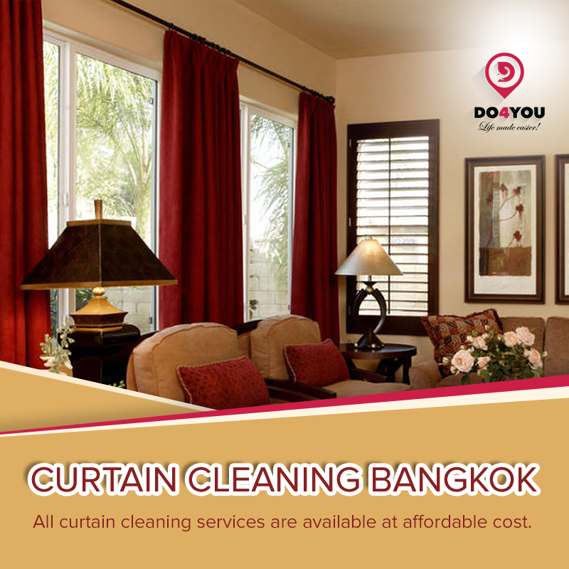 Clean your Curtain with professional Curtain Cleaning Bangkok - DO4YOU DO4YOU, Curtain Cleaning Service provider Bangkok, offers unsurpassed cleaning performance in your local area. For further details show on website https://www.do4you.net/.  by DO4YOU