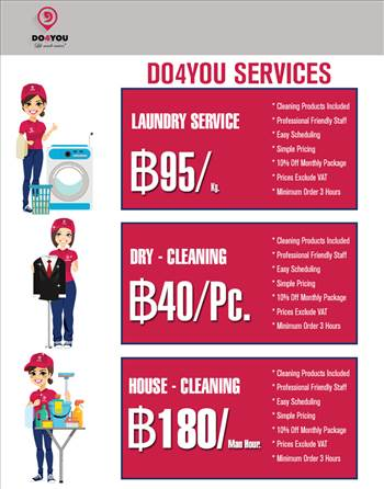 Laundry Service Bangkok, House Cleaning Bangkok, Dry Cleaning - DO4YOU by DO4YOU