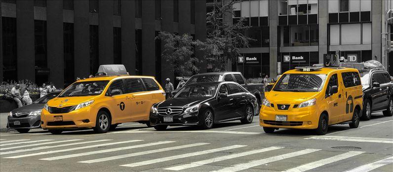 New York Taxi's by Tony Keogh Photography