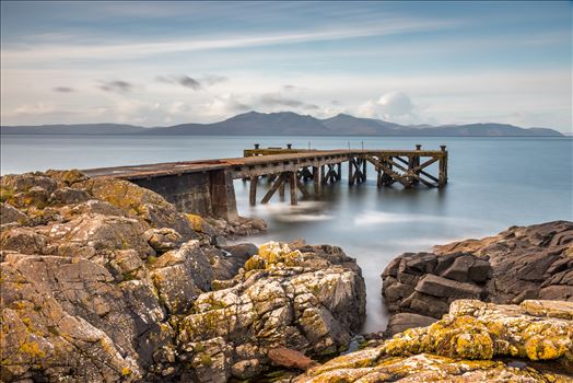 Portencross Jetty looking out to the Isle of Arran by Tony Keogh Photography