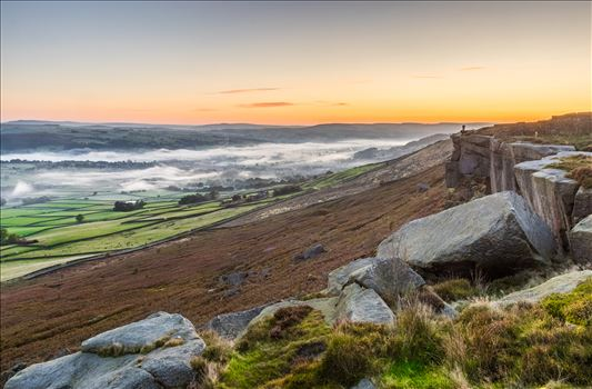 Misty Morning in the Aire Valley by Tony Keogh Photography